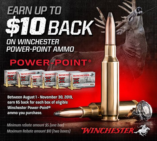 2019 WINCHESTER POWER-POINT REBATE